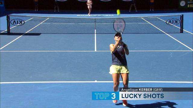 Australian Open Top 5 Luckiest Shots: Featuring Federer & Kerber