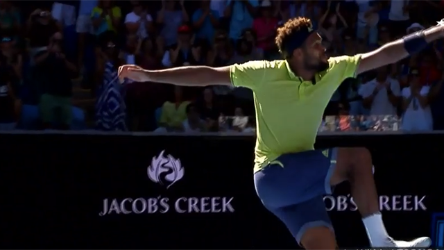 Top 5 Jubelszenen: Nadal zeigt die Muskeln, Tsonga macht den Springfloh