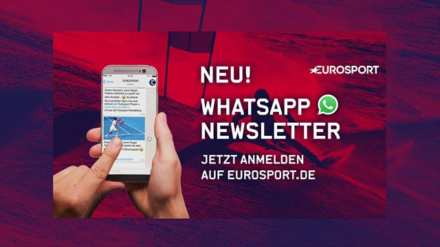Neu! Eurosport-News per WhatsApp - jetzt kostenlos anmelden