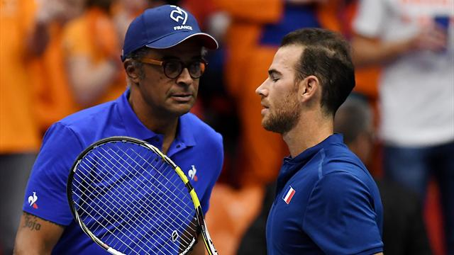 Injury-hit France tied with Netherlands in Davis Cup