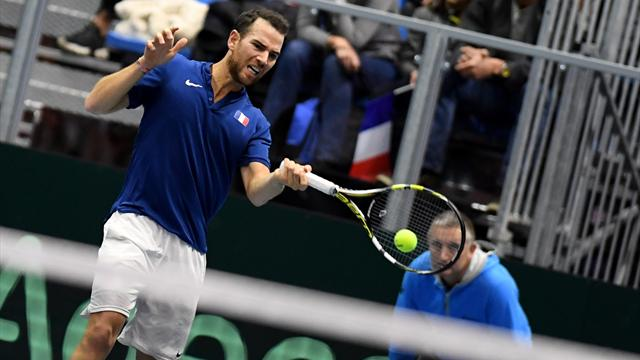 Mannarino earns injury-hit France quarter-final spot in Davis Cup