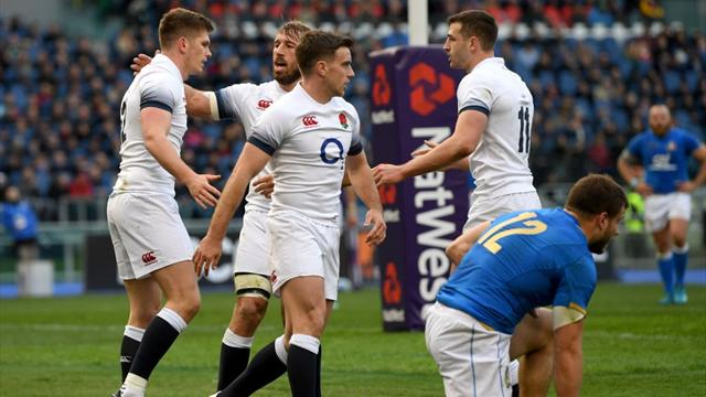 England rack up seven tries in emphatic win over Italy