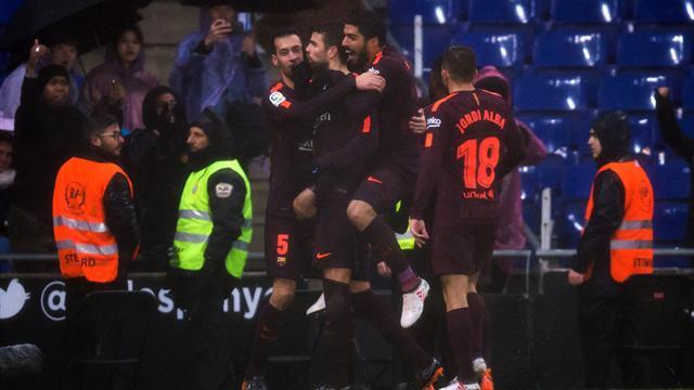 Pique silences Espanyol critics to keep Barcelona unbeaten