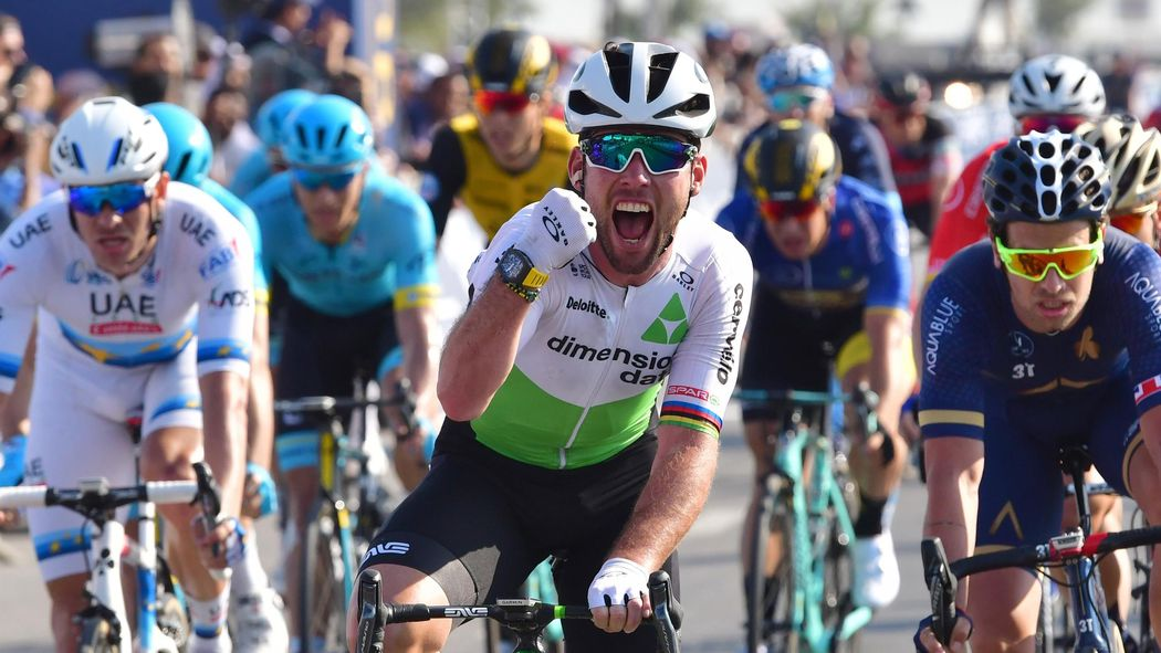 Mark Cavendish opens 2018 account with Dubai stage win