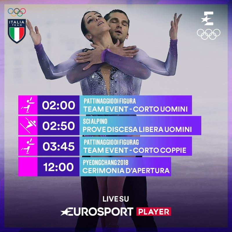 Tutti gli italiani in gara venerdì 9 febbraio in attesa della cerimonia d'apertura