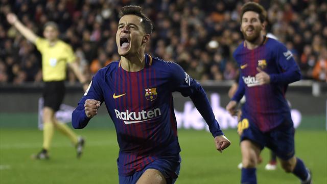 Le premier coup d'éclat de Coutinho envoie le Barça en finale