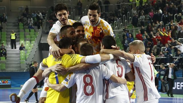 Futsal Euro 2018, Kazajistán-España: En la épica y en los penaltis (5-5, pen. 1-3)
