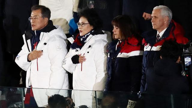 Вице-президент США увидел представителя КНДР на ужине перед Олимпиадой, поморщился и свинтил