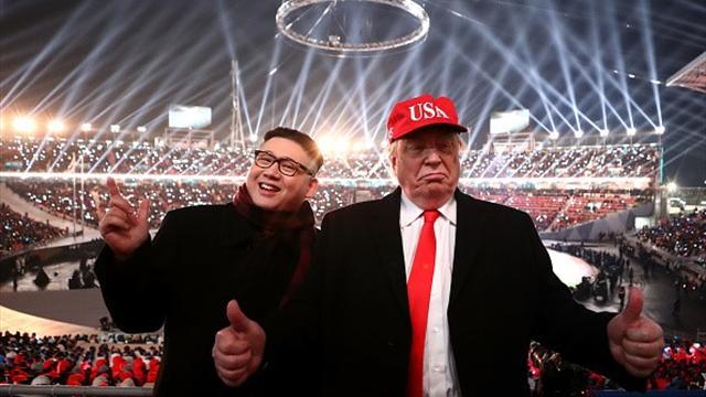 Двойники Трампа и Ким Чен Ына появились на открытии ОИ, но их выпроводили со стадиона