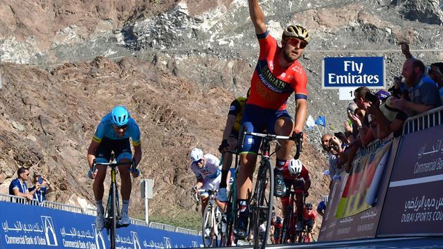 Dubai Tour: Colbrelli sprints to uphill stage win atop Hatta Dam