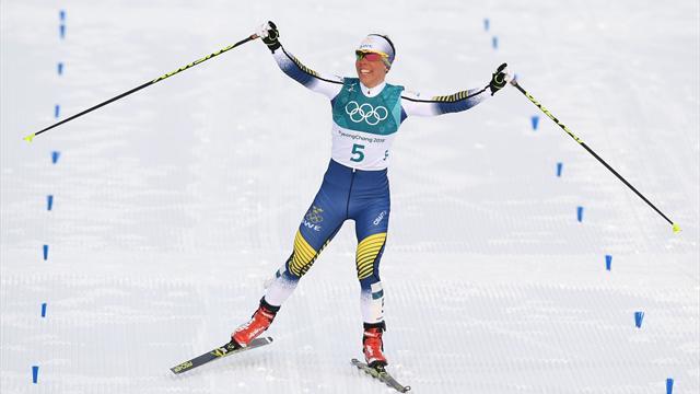 OS-guld till Charlotte Kalla efter mäktigt ryck