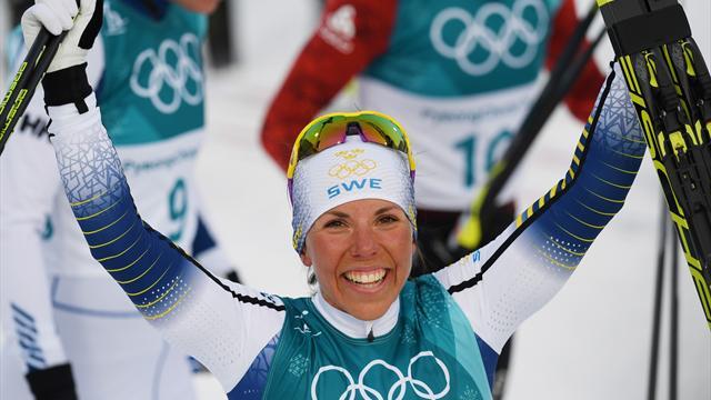 Kalla wins first PyeongChang gold in women's skiathlon