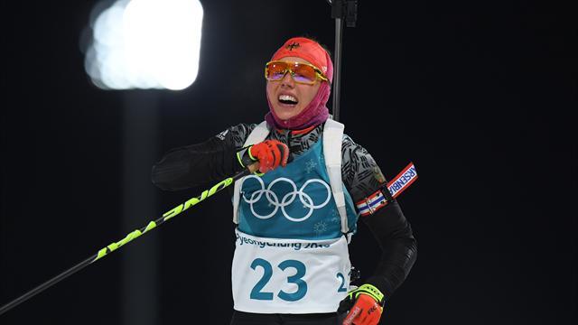 Dahlmeier a déja mis dans le mille pour l'or olympique, Dorin au pied du podium