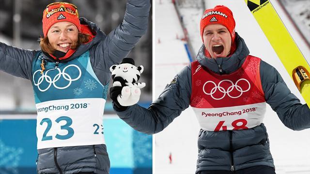 Olympia-Highlights XXL: Königin Dahlmeier, Gold-Adler Wellinger