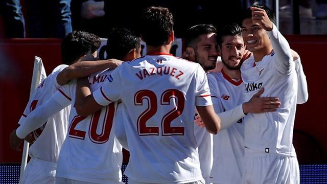 Sevilla venció a Girona y da pelea por las copas