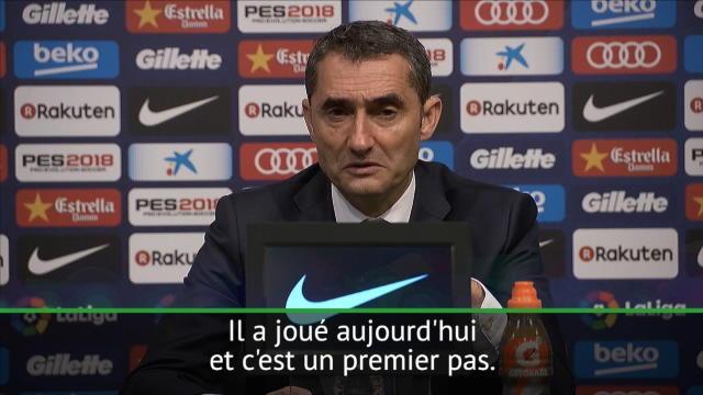 Valverde : «Dembélé devait essayer des choses, comme les dribbles»