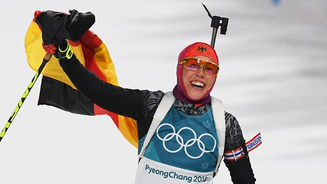 Dahlmeier of Germany wins women's biathlon 10 km pursuit at PyeongChang Olympics