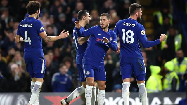 Hazard brace gives Chelsea win over West Brom