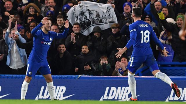Avec un Giroud inspiré et un Hazard décisif, Chelsea se remet dans le sens de la marche