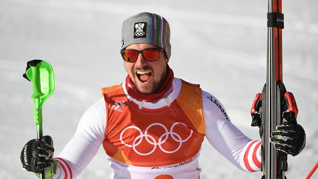 Hirscher wins alpine combined gold with sensational slalom run