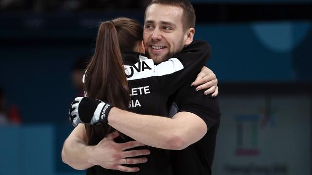 OAR pair claim first mixed doubles curling medal