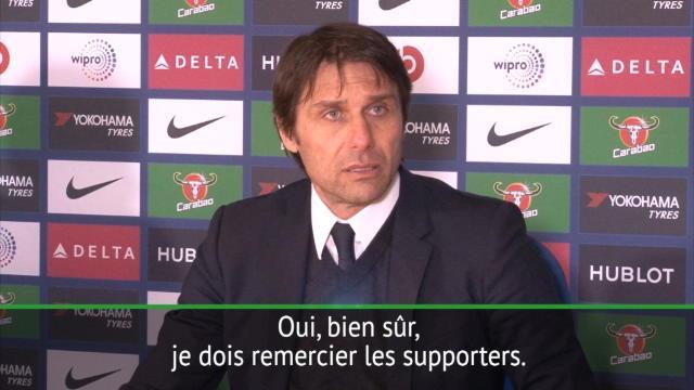 """27e j. - Conte : """"Je veux remercier les supporters"""""""