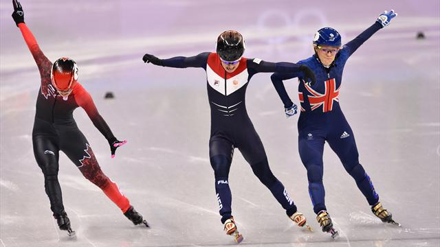 Christie edges into 500m short-track final after thrilling photo finish