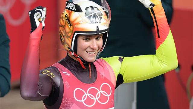 Geisenberger defends luge gold, extends German reign
