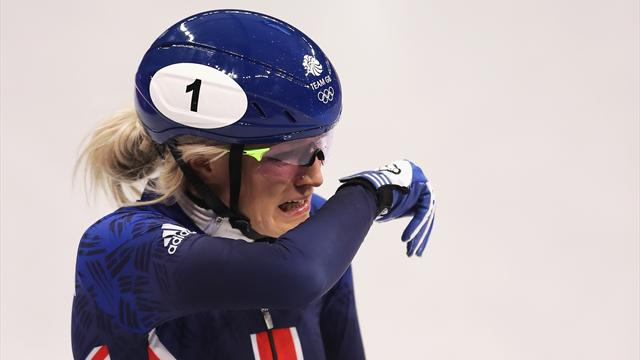 Agony for Christie as GB speed skater crashes out in 500m short-track final