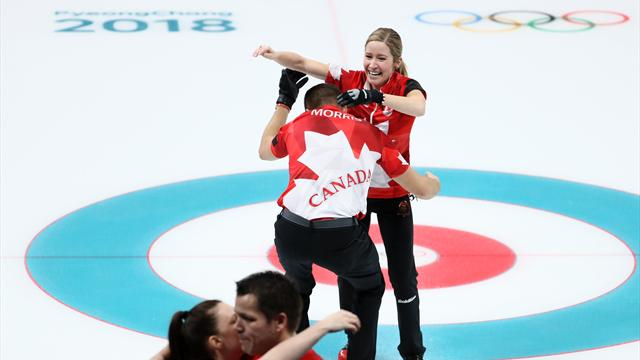 Le Canada, premier champion olympique de double mixte