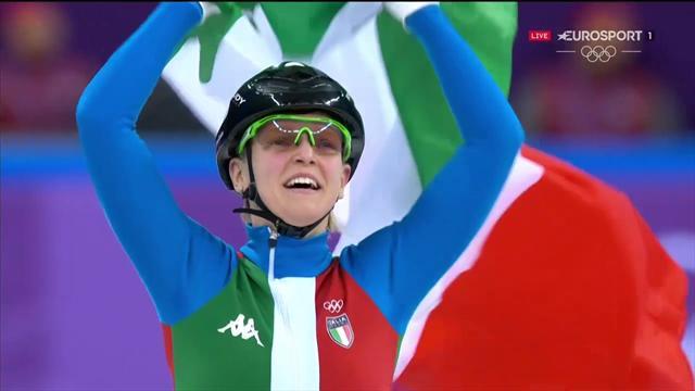 La storica medaglia d'oro di Arianna Fontana: è campionessa olimpica nei 500 metri