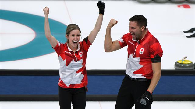 Canada sweeps past Swiss for first mixed-doubles gold