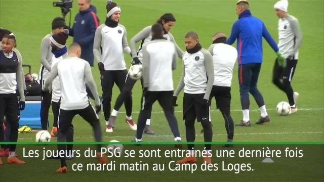 8es - Le dernier entrainement au Camp des Loges avant Madrid