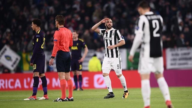 Higuain a frappé après seulement 78 secondes de jeu : l'ouverture du score de la Juve