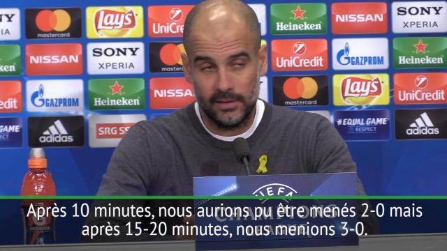 """Guardiola : """"Nous sommes presque en quart de finale"""""""