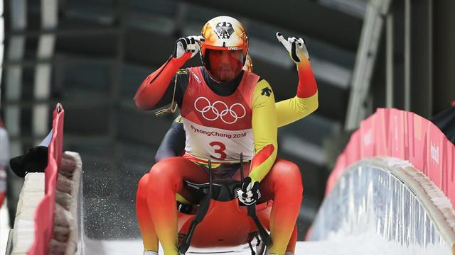 German duo Wendl and Arlt defend men's double luge title