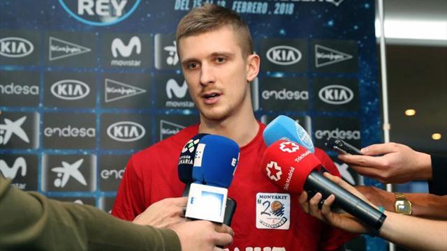 """Luka Rupnik: """"Jugaremos sin presión ante un Gran Canaria que es favorito"""""""