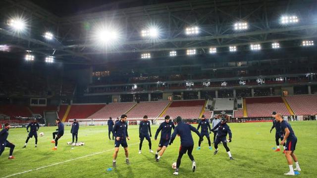 El Athletic busca aire y una alegría en el frío de Moscú