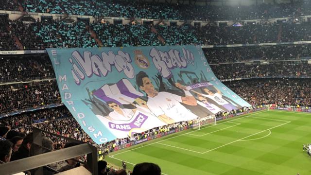 """""""Vamos Real"""" : le magnifique tifo du Real Madrid en hommage à Rafael Nadal"""