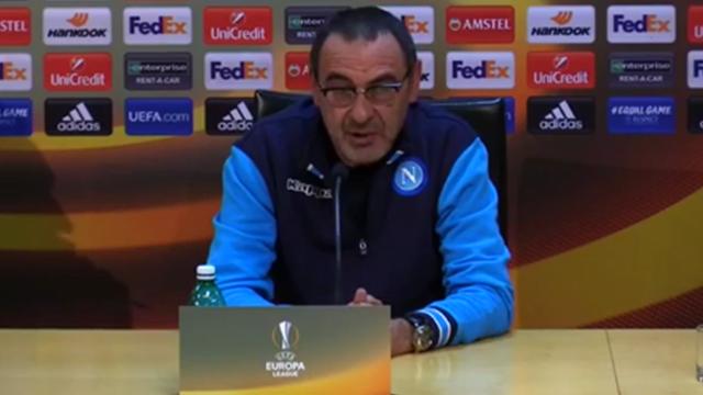 """Sarri: """"Europa League manifestazione folle e la Lega non ci aiuta..."""""""
