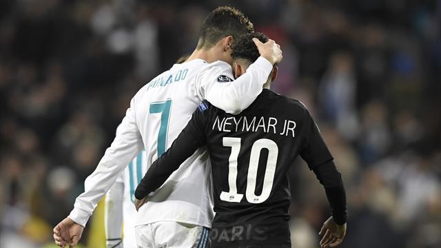 Neymar-Ronaldo : L'un tente, l'autre marque