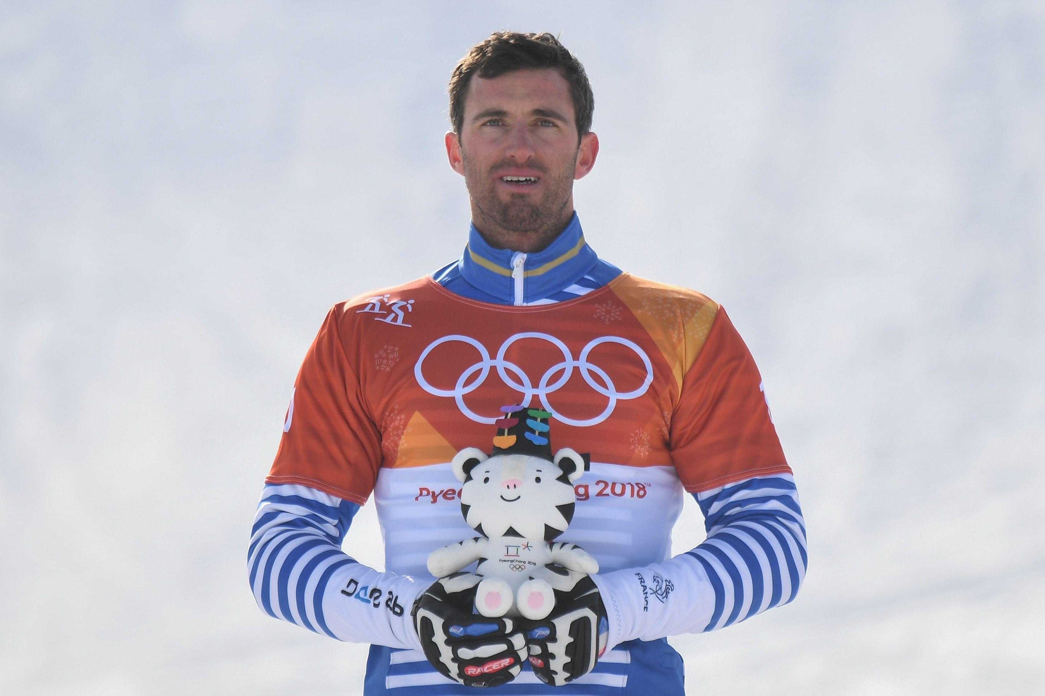Pierre Vaultier lors des JO de Pyeongchang