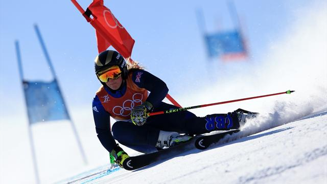 Watch GB's Tilley crash out of Giant Slalom