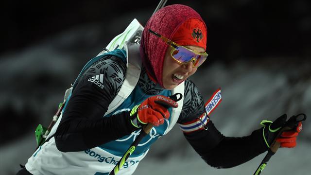 Dahlmeier geht über die 15km spät ins Rennen