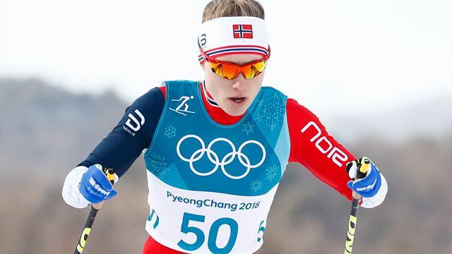 Norwegens Skilangläuferin Haga holt Gold über 10 km