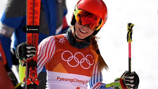 Mikaela Shiffrin, imponente en el eslalon gigante, se estrena con el oro