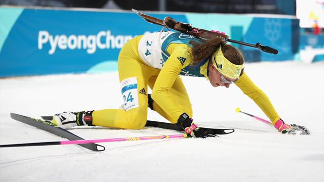 Sweden's Oeberg takes shock biathlon gold
