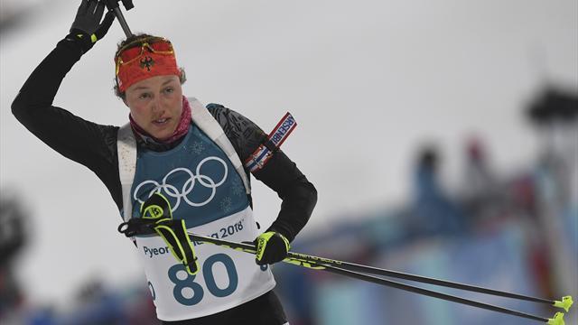 Biathlon: Dahlmeier mit Bronze im Einzel - Überraschungssieg durch Schwedin Öberg