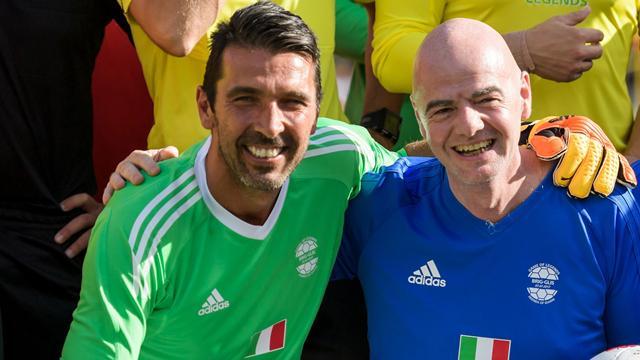 """Infantino: """"Se Buffon smette di giocare lo porto alla Fifa, sulla VAR non si torna indietro"""""""