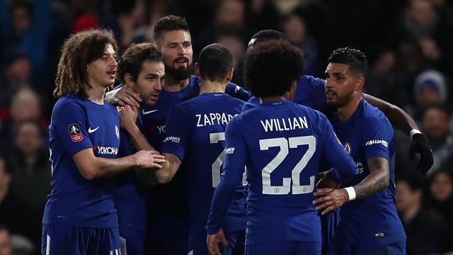 Premier but pour Olivier Giroud sous ses nouvelles couleurs — Chelsea